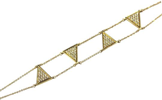 other Triangle Double Chain With Diamond Bracelet Image 1