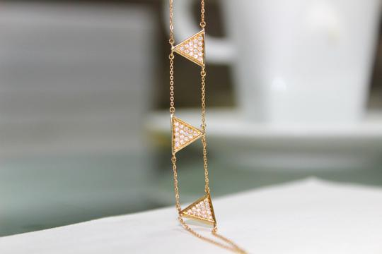 other Triangle Double Chain With Diamond Bracelet Image 2