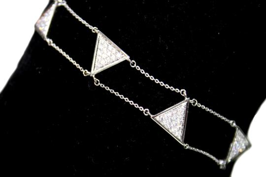 other Triangle Double Chain With Diamond Bracelet Image 3