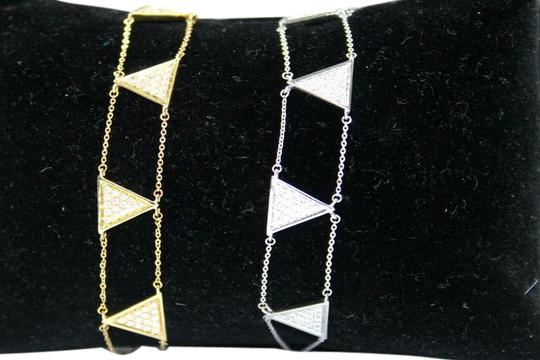 other Triangle Double Chain With Diamond Bracelet Image 5