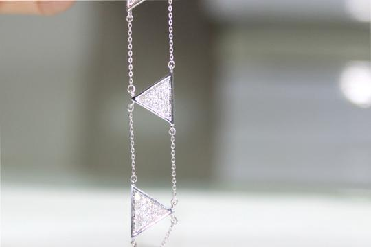 other Triangle Double Chain With Diamond Bracelet Image 6