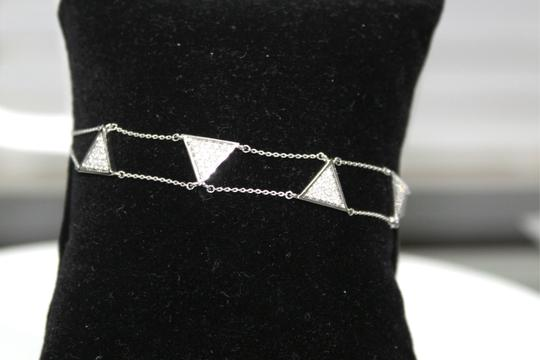 other Triangle Double Chain With Diamond Bracelet Image 8