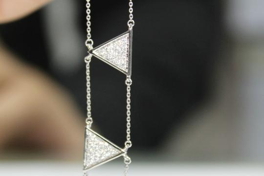other Triangle Double Chain With Diamond Bracelet Image 9