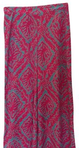 Lilly Pulitzer Wide Leg Pants Fuchsias and turquoise
