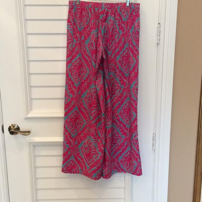 Lilly Pulitzer Wide Leg Pants Fuchsias and turquoise Image 1