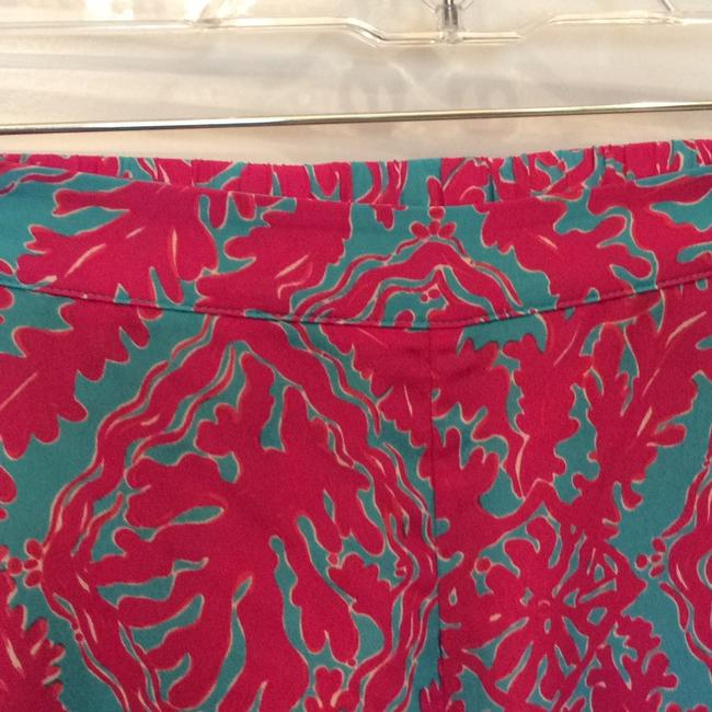 Lilly Pulitzer Wide Leg Pants Fuchsias and turquoise Image 3