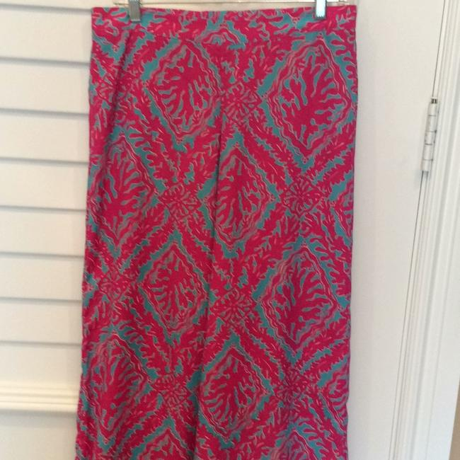 Lilly Pulitzer Wide Leg Pants Fuchsias and turquoise Image 4