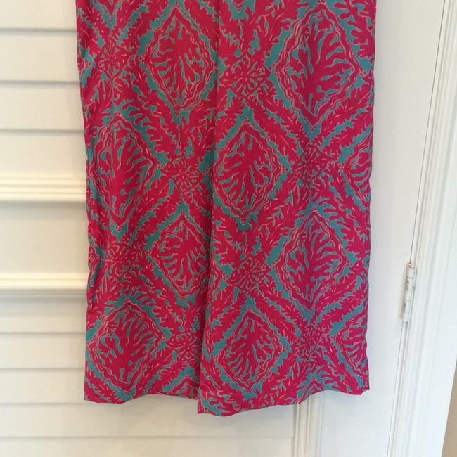 Lilly Pulitzer Wide Leg Pants Fuchsias and turquoise Image 5