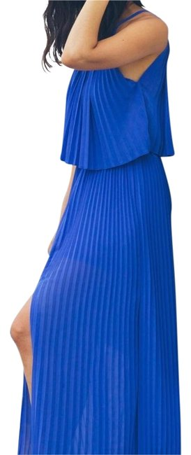 Preload https://img-static.tradesy.com/item/22317793/line-and-dot-blue-pleated-long-casual-maxi-dress-size-4-s-0-1-650-650.jpg