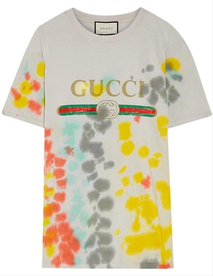 Gucci brand new logo printed large t shirt tie dye on tradesy for Logo printed t shirts