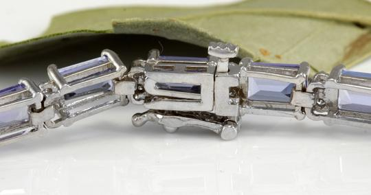Other 12.45Ct Natural Tanzanite and Diamond 14K White Gold Bracelet Image 5