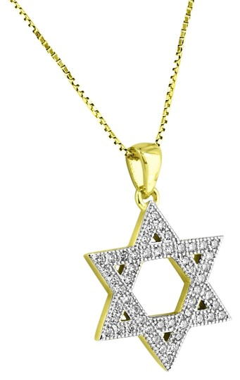 Preload https://img-static.tradesy.com/item/22318050/master-of-bling-yellow-star-david-sterling-silver-mini-09-pendant-14k-gold-finish-necklace-0-1-540-540.jpg