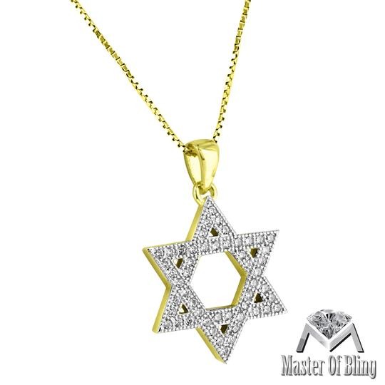 Master Of Bling Star Of David Sterling Silver Mini 0.9