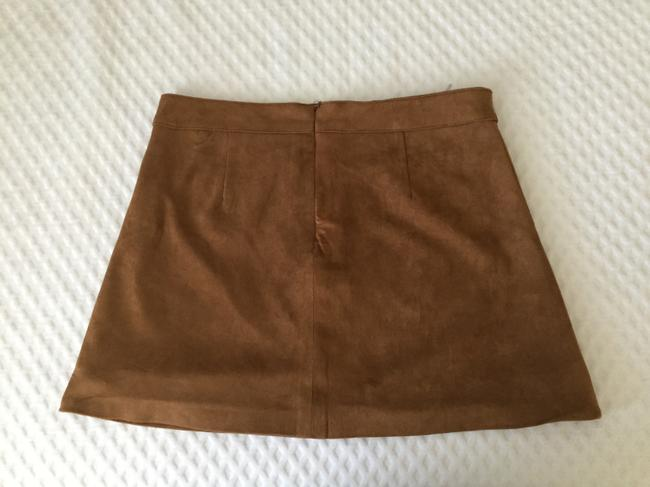 Altar'd State Size Small Mini Skirt Brown Image 1