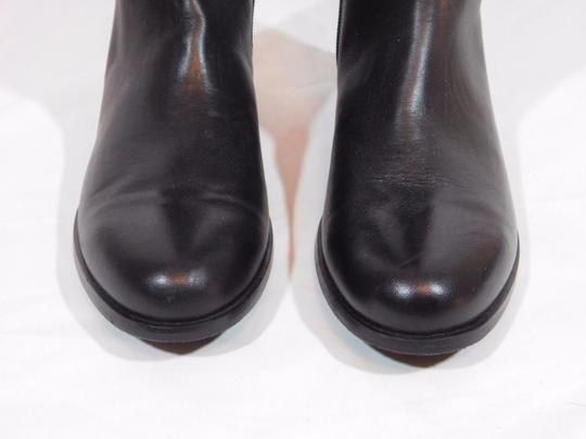 Aquatalia Suede Leather Equestrian Italy Black Boots Image 7