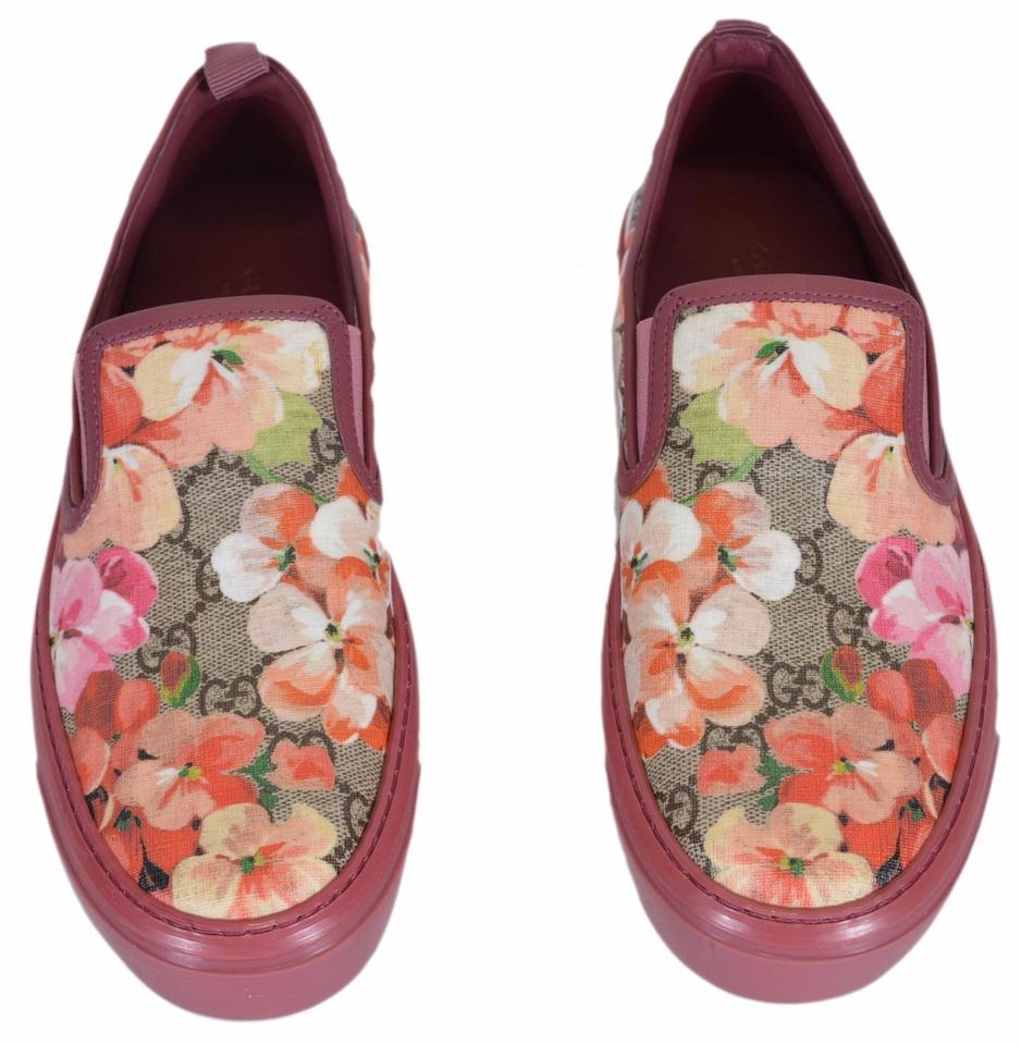 gucci pink blooms new women 39 s gg supreme canvas slip on 37 7 flats on sale 35 off flats on sale. Black Bedroom Furniture Sets. Home Design Ideas