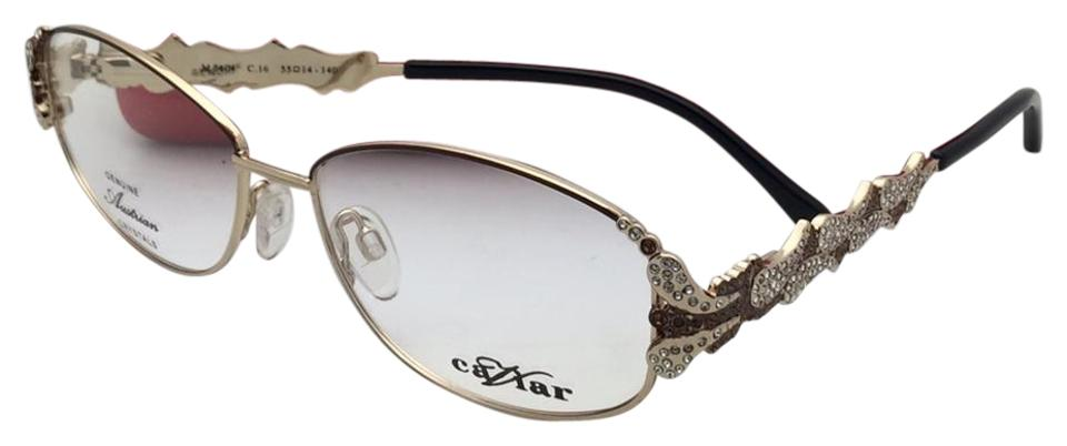Caviar Eyewear New Unique M 5604 C.16 55-14 Gold & Brown Frames with ...