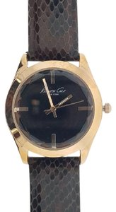 Kenneth Cole KC2870 Women's Brown Leather Band With Black Analog Dial