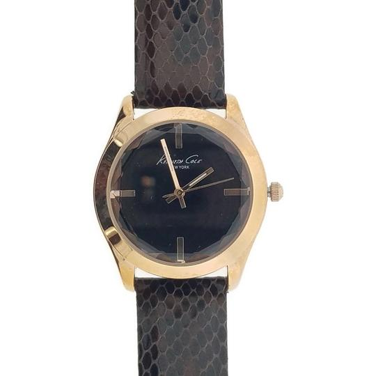 Kenneth Cole KC2870 Women's Brown Leather Band With Black Analog Dial Image 1