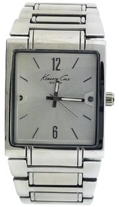 Kenneth Cole 10019416 Men's Silver Steel Band With Silver Analog Dial