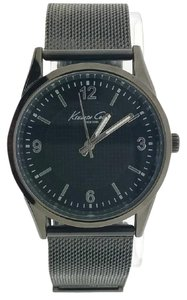 Kenneth Cole 10024821 Men's Gunmetal Steel Band With Black Analog Dial