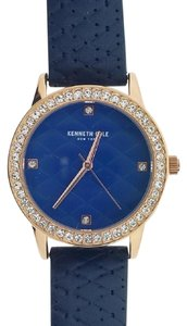 Kenneth Cole KCC0060003 Women's Blue Leather Band With Blue Analog Dial