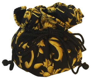 r.phillips for I.Magnin Jewelry Case; Multi-Sectional Black & Gold Baroque Print, Velvet-lined by r. Phillips for I.Magnin [ Roxanne Anjou Closet ]