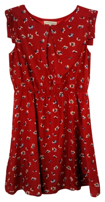 Other short dress Dark Red Floral Young Threads Summer Size 12 on Tradesy