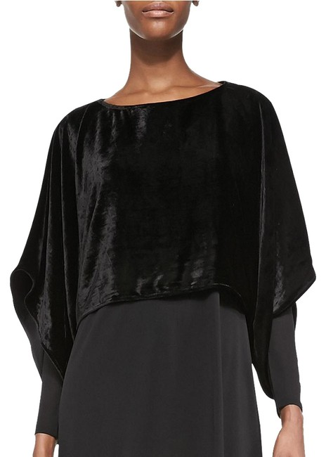 Preload https://img-static.tradesy.com/item/22318966/eileen-fisher-black-kimono-velvet-sleeve-ballet-neck-xxs-blouse-size-00-xxs-0-3-650-650.jpg