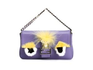 Fendi Baguette Micro Eyes Monster Cross Body Bag