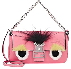 Fendi Baguette Micro Charms Monster Cross Body Bag