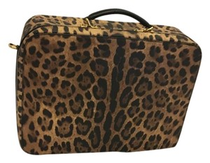 Dolce&Gabbana Vacation Polka Dot Vintage Leopard print Travel Bag