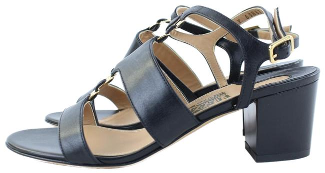 Item - Black Leather Strappy Gladiator 195sf54 Sandals Size US 5.5 Wide (C, D)