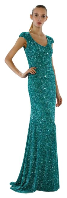 Preload https://img-static.tradesy.com/item/22319453/theia-tourmaline-crunchy-sequin-cap-sleeve-gown-882361-long-formal-dress-size-4-s-0-1-650-650.jpg