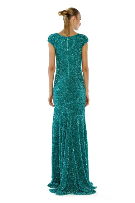 Theia Sequin Cap Sleeve Gown Evening Dress Image 2