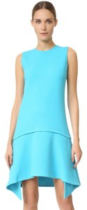 Victoria, Victoria Beckham short dress Ice Blue Draped Party on Tradesy