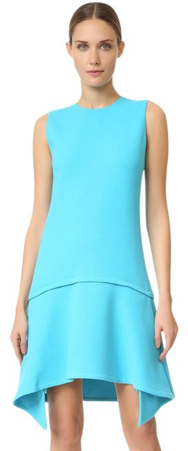 Preload https://img-static.tradesy.com/item/22319741/victoria-victoria-beckham-ice-blue-draped-skirt-teal-mid-length-short-casual-dress-size-6-s-0-1-650-650.jpg