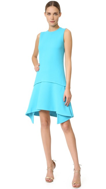 Victoria, Victoria Beckham short dress Ice Blue Draped Party on Tradesy Image 2