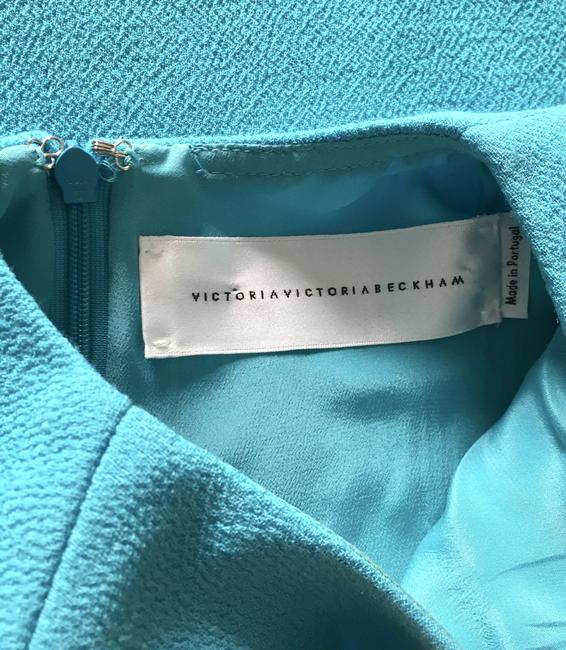 Victoria, Victoria Beckham short dress Ice Blue Draped Party on Tradesy Image 3