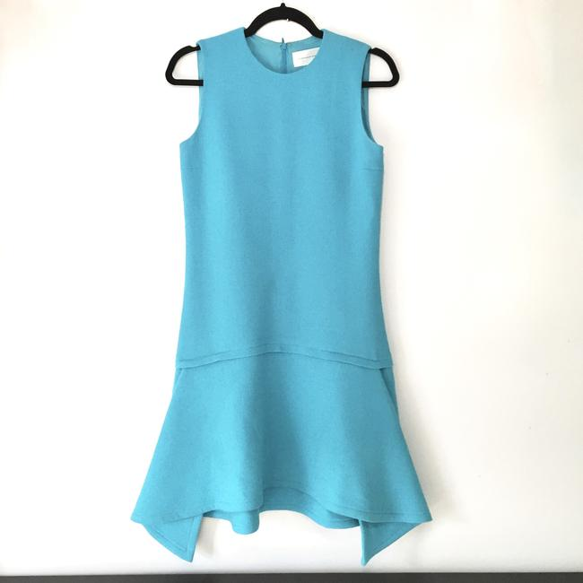 Victoria, Victoria Beckham short dress Ice Blue Draped Party on Tradesy Image 5