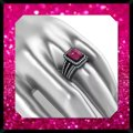 Other New 2.95ct Pink and 14k Black Gold Filled Wedding Ring Set Image 3
