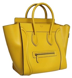 Céline Pamelato Leather Runway Limited Edition Tote in Yellow