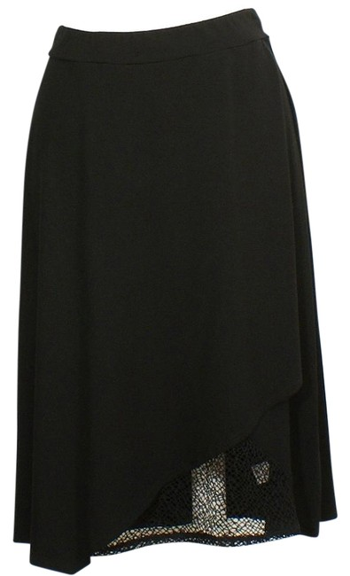 Preload https://img-static.tradesy.com/item/22319827/eileen-fisher-black-viscose-jersey-faux-wrap-lace-accent-l-skirt-size-14-l-34-0-1-650-650.jpg