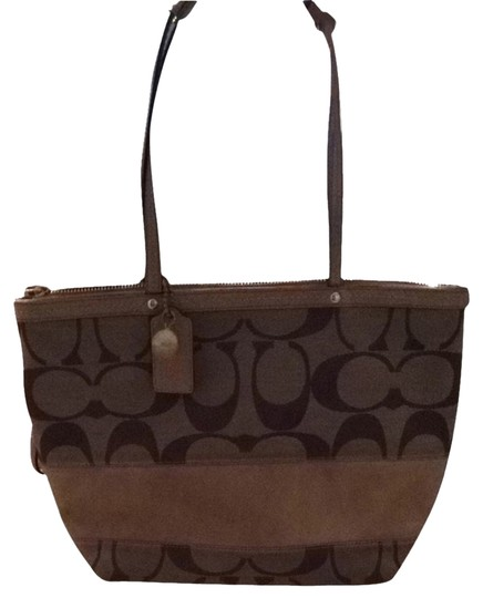Preload https://item1.tradesy.com/images/coach-striped-tote-khaki-and-camel-signature-fabric-shoulder-bag-2231985-0-0.jpg?width=440&height=440