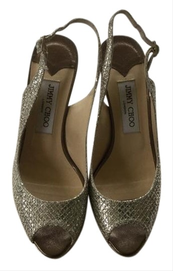 Jimmy Choo Metallic Champagne Pumps Image 0