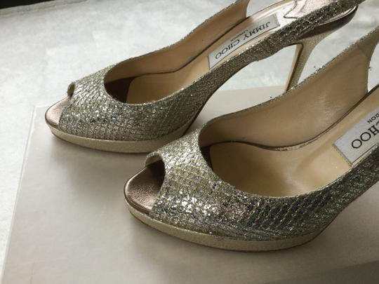 Jimmy Choo Metallic Champagne Pumps Image 1