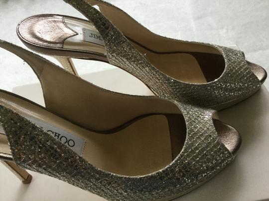 Jimmy Choo Metallic Champagne Pumps Image 2