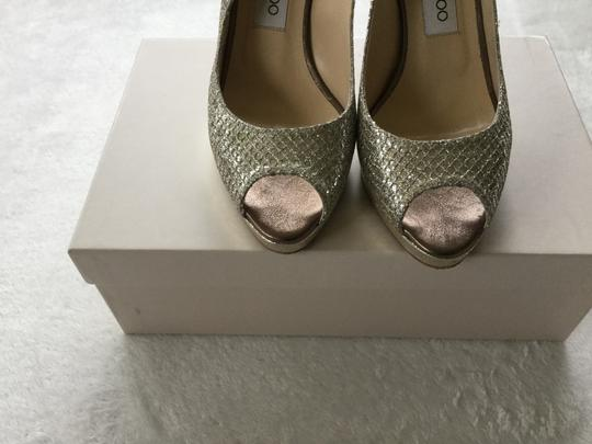 Jimmy Choo Metallic Champagne Pumps Image 3