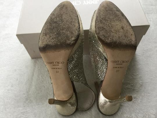 Jimmy Choo Metallic Champagne Pumps Image 4