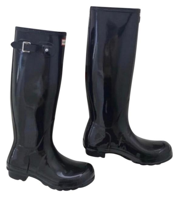 Hunter Black/Blue Boots/Booties Size US 9 Regular (M, B) Hunter Black/Blue Boots/Booties Size US 9 Regular (M, B) Image 1